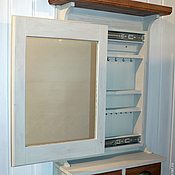 Для дома и интерьера ручной работы. Ярмарка Мастеров - ручная работа Зеркало с полочками и ящиками. Handmade.