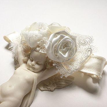 Товары для малышей ручной работы. Ярмарка Мастеров - ручная работа Повязочка для девочки, повязка на голову для малышки. Handmade.
