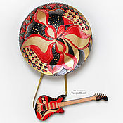 Посуда handmade. Livemaster - original item Plate on the wall with a guitar