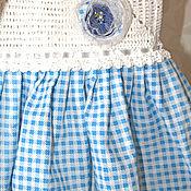 """Работы для детей, ручной работы. Ярмарка Мастеров - ручная работа Платье""""Голубое с цветком"""".. Handmade."""