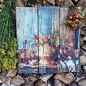 Картины и панно ручной работы. Ярмарка Мастеров - ручная работа Набор из 2-х панно  НАТЮРМОРТЫ. Handmade.
