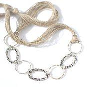 Украшения handmade. Livemaster - original item linen necklace, boho. Handmade.