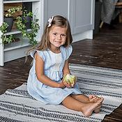 """Платье ручной работы. Ярмарка Мастеров - ручная работа Льняное платье для девочки """"Голубой меланж"""". Handmade."""