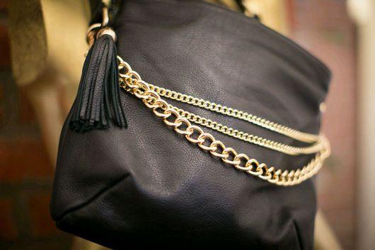 Женские сумки ручной работы. Ярмарка Мастеров - ручная работа. Купить Кожаная сумка с цепями. Handmade. Сумка, сумка из кожи