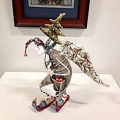 Куклы и игрушки ручной работы. Ярмарка Мастеров - ручная работа Ангелочек на лыжах. Handmade.