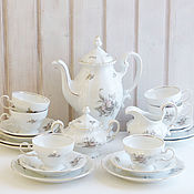 "1910-37гг. Чайный сервиз ""Роза в тени"", 6 персон,Johann Haviland"
