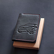 Канцелярские товары handmade. Livemaster - original item Cover for auto documents / / / Volkswagen POLO. Handmade.