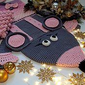 Для дома и интерьера handmade. Livemaster - original item Carpets: Children`s carpet of cord knitted Rat Frau Martha. Handmade.