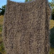 Для дома и интерьера handmade. Livemaster - original item Shawl plaid 160cmx 150cm100% natural goat fluff. Handmade.
