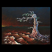 """Картины и панно ручной работы. Ярмарка Мастеров - ручная работа """"Кровь земли"""" - коллекционная картина. Handmade."""