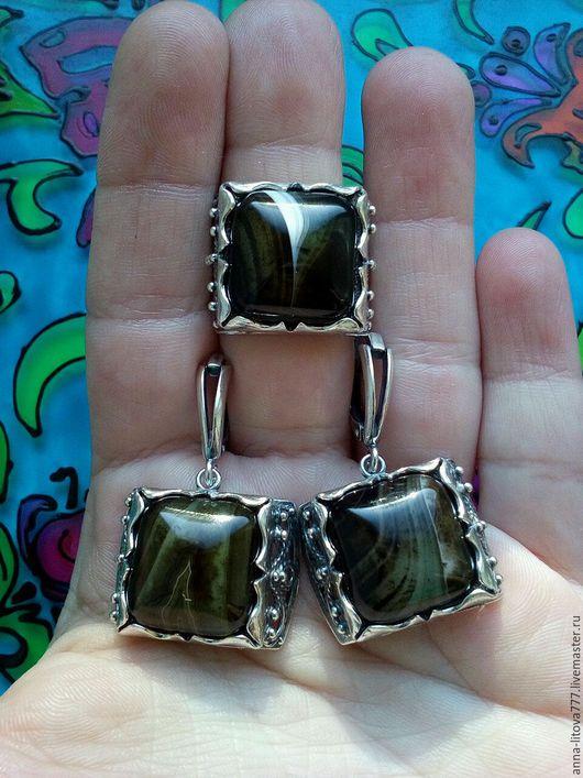 Комплекты украшений ручной работы. Ярмарка Мастеров - ручная работа. Купить 152 Комплект серебрение серьги и кольцо с агатом, сердоликом. Handmade.