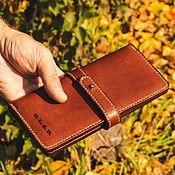 Сумки и аксессуары handmade. Livemaster - original item Wallet leather longer. Handmade.
