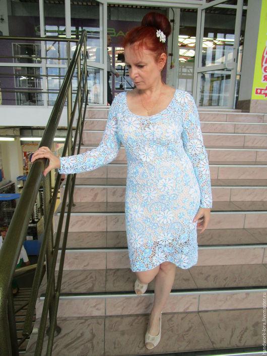 Платья ручной работы. Ярмарка Мастеров - ручная работа. Купить платье ,,Нежность,,. Handmade. Нежно голубой, ирландское кружево