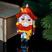 Сувениры и подарки handmade. Livemaster - original item Christmas tree toy Christmas porcelain Christmas tree toy Nutcracker. Handmade.