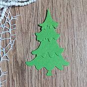 Материалы для творчества handmade. Livemaster - original item !Cutting for scrapbooking - TREE 3D-assembled - NEW YEAR cards from diz. Handmade.