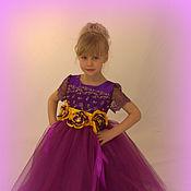 Работы для детей, ручной работы. Ярмарка Мастеров - ручная работа Платье для девочки 4-7 лет. Handmade.