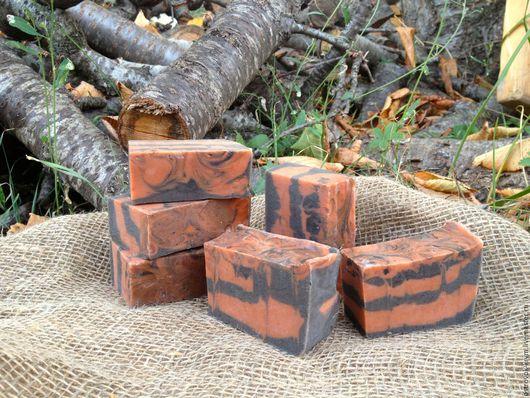 """Мыло ручной работы. Ярмарка Мастеров - ручная работа. Купить Натуральное мыло ручной работы с глинами """"Осень"""". Handmade. Черный"""