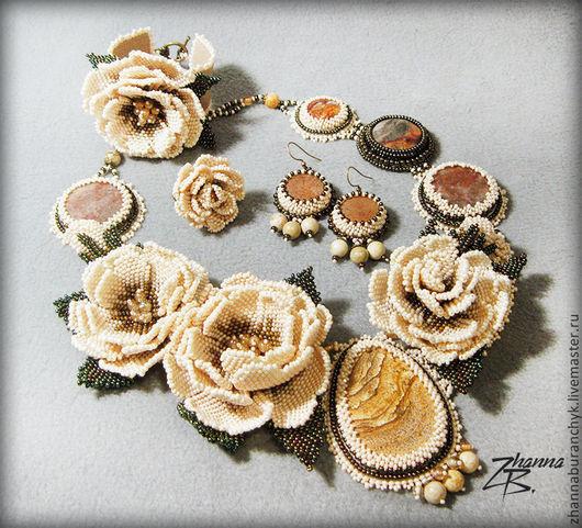 Комплекты украшений ручной работы. Ярмарка Мастеров - ручная работа. Купить Раз лепесточек, два лепесточек, ... получается цветочек !!!. Handmade.