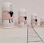 """Куклы и игрушки ручной работы. Ярмарка Мастеров - ручная работа Матрешка авторская """"Овечки"""". Handmade."""