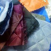 Ткани ручной работы. Ярмарка Мастеров - ручная работа подкладка - термостежка на синтепоне , стеганая. Handmade.