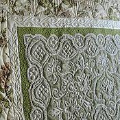 Для дома и интерьера ручной работы. Ярмарка Мастеров - ручная работа Лоскутное покрывало На кровати кружева и розы. Handmade.