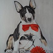 Картины и панно handmade. Livemaster - original item Portrait of a dog in oil on canvas. Handmade.