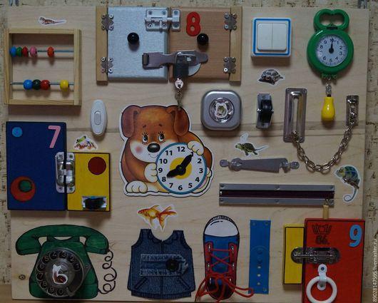 Развивающие игрушки ручной работы. Ярмарка Мастеров - ручная работа. Купить РАЗВИВАЮЩАЯ ДОСКА. Handmade. Комбинированный, развивающая книжка, модуль