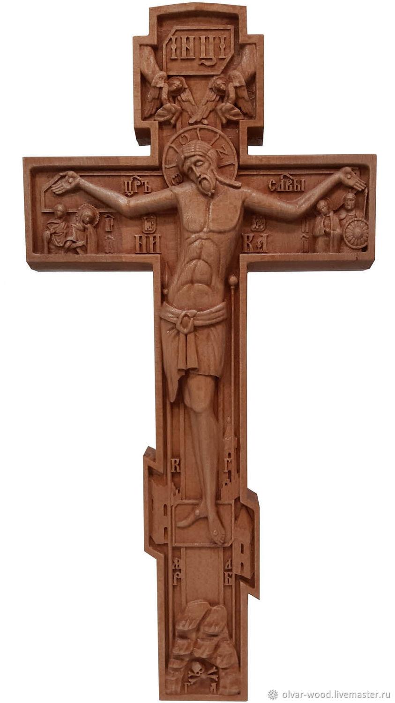 Резной крест распятие, Иконы, Москва,  Фото №1