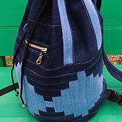 handmade. Livemaster - original item Backpack denim InfinityII. Handmade.