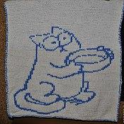 """Работы для детей, ручной работы. Ярмарка Мастеров - ручная работа Детский плед """"Тот самый кот Саймона"""". Handmade."""