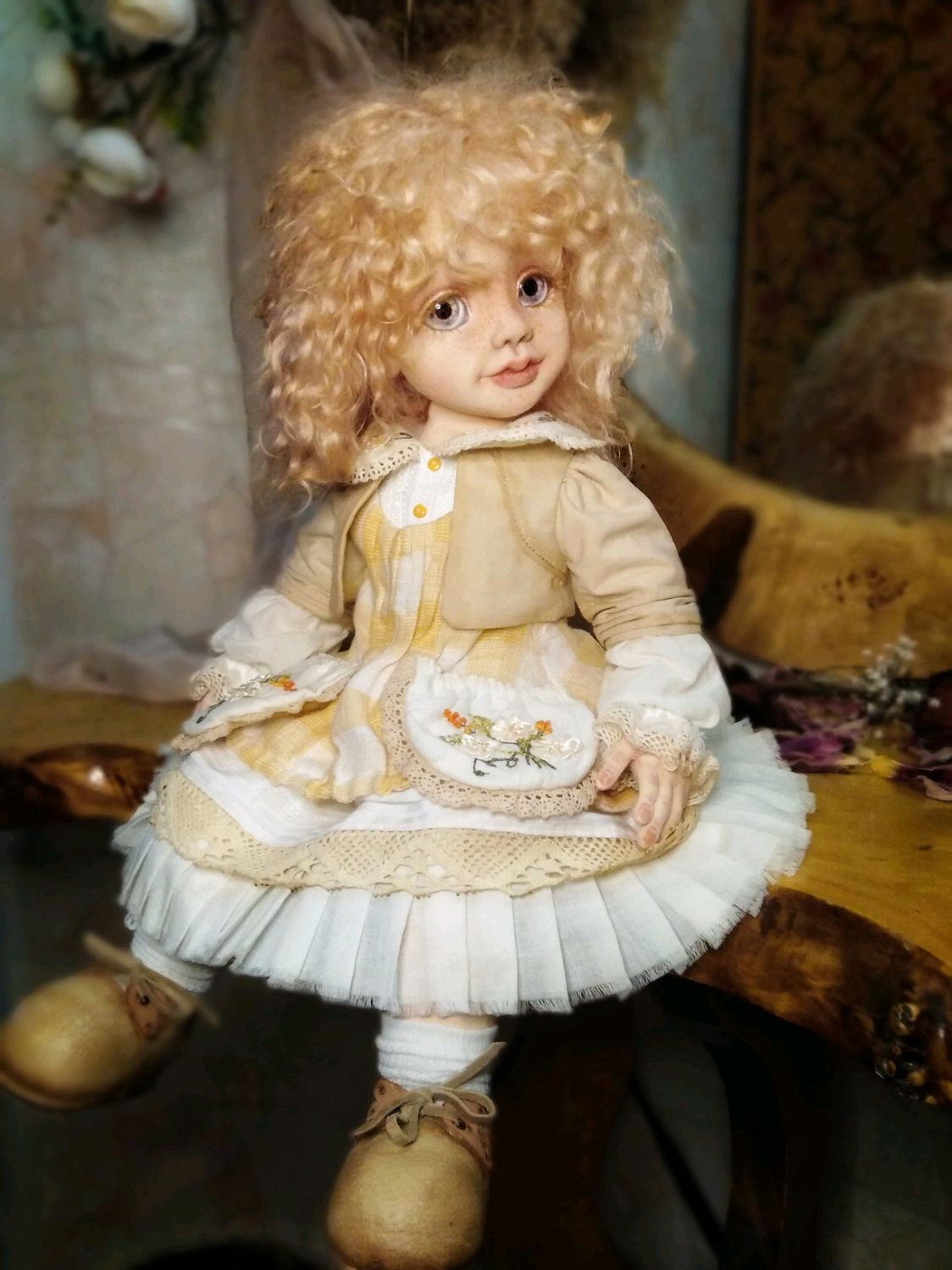 Collectible, interior, games doll Asya, Dolls, Rostov-on-Don,  Фото №1
