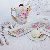 """Сервизы ручной работы. Ярмарка Мастеров - ручная работа Десертный набор """"Розовый цвет"""". Handmade."""
