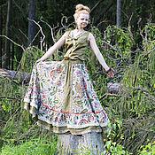 Одежда ручной работы. Ярмарка Мастеров - ручная работа Бохо- юбка хлопковая. Handmade.