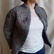 """Одежда ручной работы. Ярмарка Мастеров - ручная работа Жакет двухсторонний """"Серое кружево"""". Handmade."""