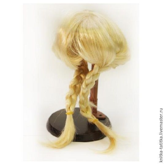 Вышивка волос у куклы
