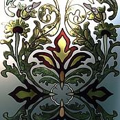 Для дома и интерьера ручной работы. Ярмарка Мастеров - ручная работа Витражная роспись. Handmade.