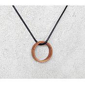 Украшения handmade. Livemaster - original item Wooden ring pendant.. Handmade.