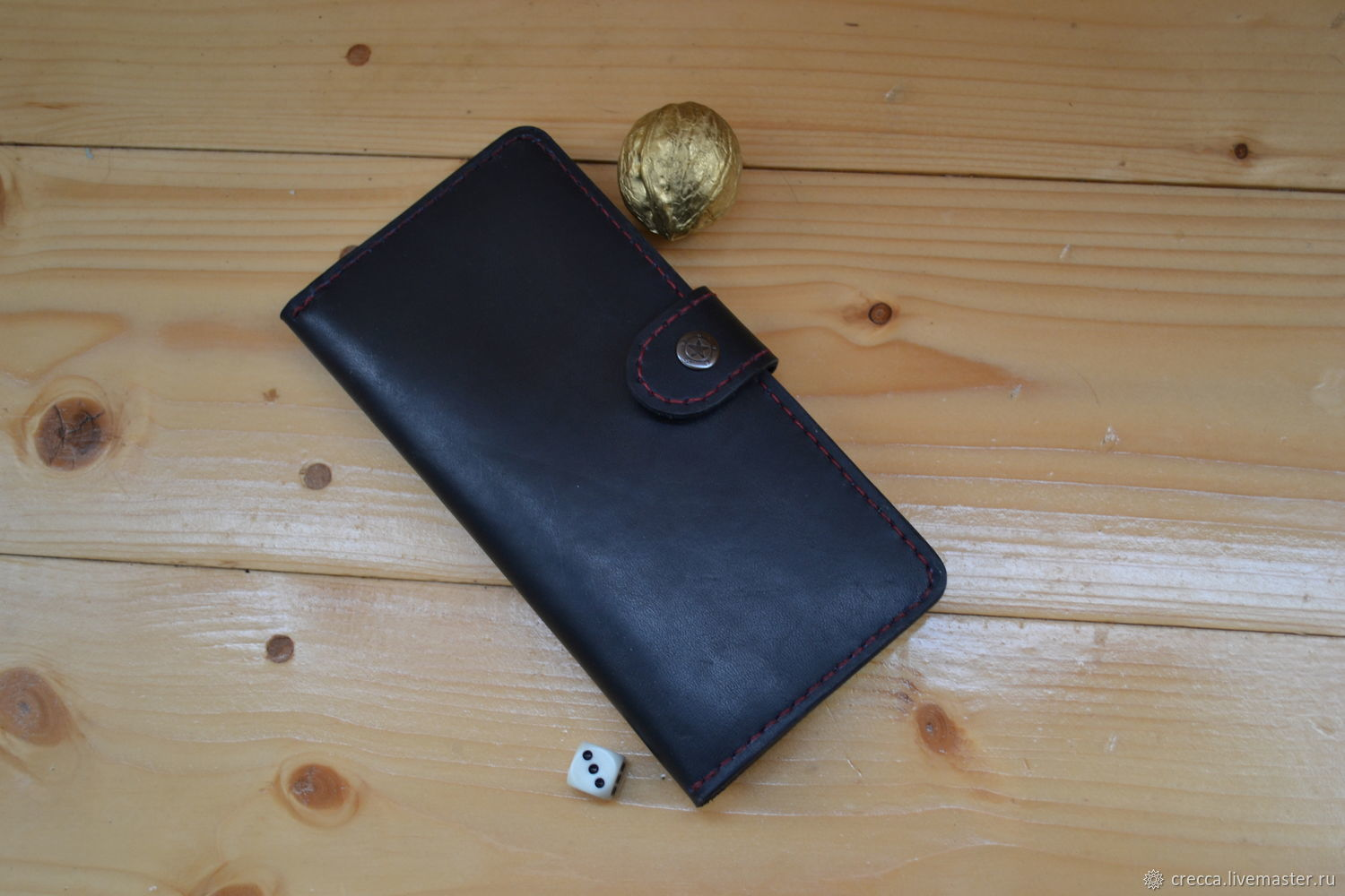 Men's leather wallet, Wallets, Moscow,  Фото №1