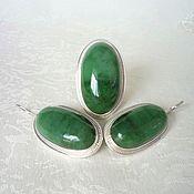 Украшения handmade. Livemaster - original item A set of jade. Handmade.