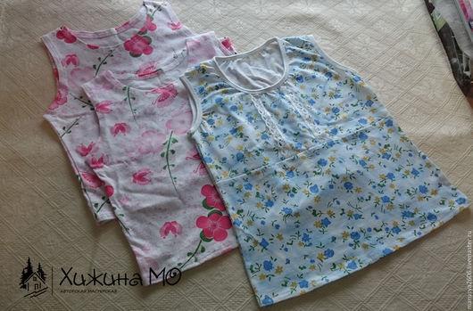Одежда унисекс ручной работы. Ярмарка Мастеров - ручная работа. Купить Майки для детей. Handmade. Комбинированный, ручная работа