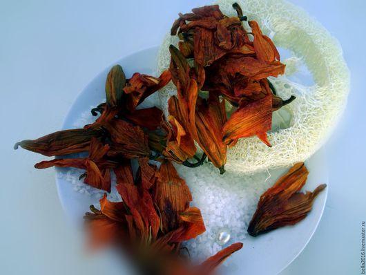 Соль для ванны ручной работы. Ярмарка Мастеров - ручная работа. Купить соль для ванной Рыжая лилия. Handmade. Рыжий, цветок