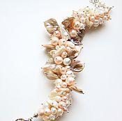 Украшения ручной работы. Ярмарка Мастеров - ручная работа Браслет «Shell» из натурального жемчуга и крупного перламутра. Handmade.