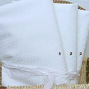 Материалы для творчества ручной работы. Ярмарка Мастеров - ручная работа Американская ткань белая мелкий цветочек. Handmade.