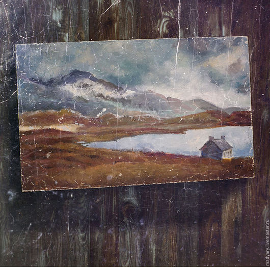 Пейзаж ручной работы. Ярмарка Мастеров - ручная работа. Купить картина Где-то в Ирландии (пасмурная осень, европейский стиль, лофт). Handmade.