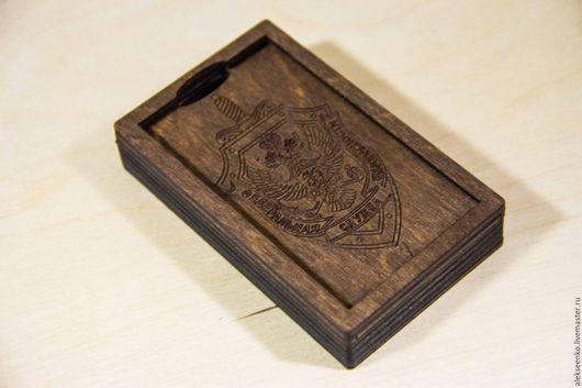 Подарки для мужчин, ручной работы. Ярмарка Мастеров - ручная работа. Купить Визитница. Handmade. Комбинированный, деревянная ваза, дерево