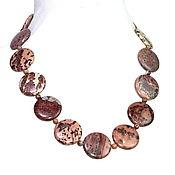 Работы для детей, handmade. Livemaster - original item Beads of genuine Jasper of
