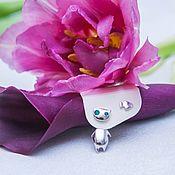 """Украшения handmade. Livemaster - original item Earrings """"Kitten"""" (silver, enamel). Handmade."""