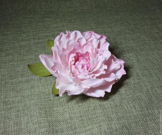 РАБОТА ЗАБРОНИРОВАНА Пион «Розовый крем», брошь из фоамирана. МамиНа мастерская цветы и декупаж. Ярмарка мастеров.