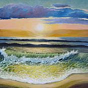 """Картины и панно ручной работы. Ярмарка Мастеров - ручная работа Картина """"Зеленая волна"""". Handmade."""
