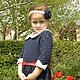 """Одежда для девочек, ручной работы. Платье """"Отличница"""". Юлия Игнатьева. Интернет-магазин Ярмарка Мастеров. Вязаное платье, нарядное платье"""